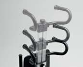 Ρυθμιζόμενη λαβή με δυνατότητα περιστροφής ή αυξομείωσης τους ύψους για ευκολία στη μετακίνηση ανάλογα με το χώρο