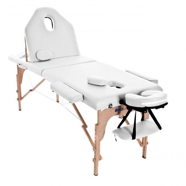 Φορητό κρεβάτι βαλίτσα Ξύλινο με ανάκλιση πλάτης