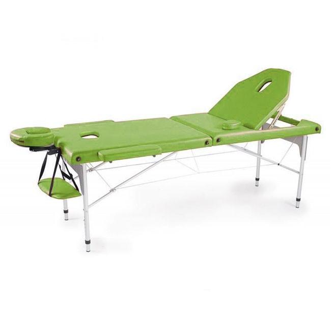 Φορητό κρεβάτι βαλίτσα αλουμινίου με ανάκλιση πλάτης